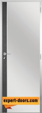 Алуминиева врата за баня - Гама, цвят Сив кестен