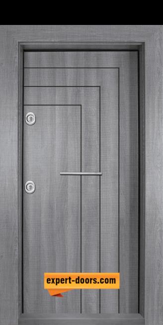 Входна блиндирана врата Сив Дъб Т-1002-01