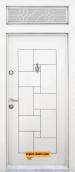 Еднокрила входна врата Т-100 бяла