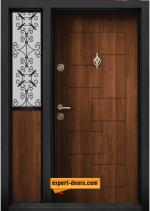 Двукрила входна врата т-100 златен дъб
