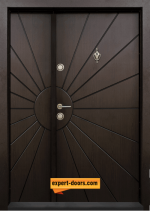 двукрила входна врата т-109 тъмен орех