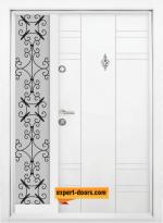 еднокрила входна врата 598 бяла